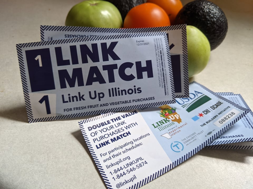 link match cash illinois farmer market
